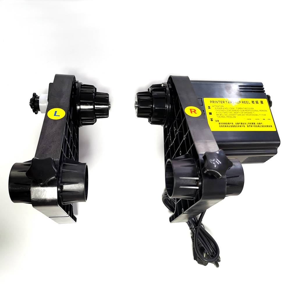 Automatic Media single power printer Take-Up Reel System
